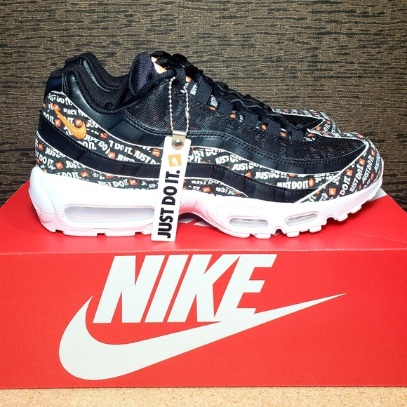 sale retailer da82d 582b2 Nike Air Max 95 SE 'JUST DO IT' Pack Black/White NWT